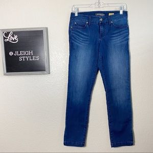Level 99 Lily Crop Skinny Straight Dark Wash Jeans